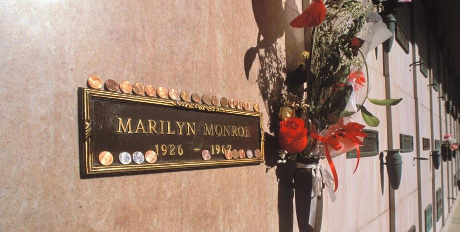 склеп, Мэрилин Монро, кладбище, Лос-Анджелес