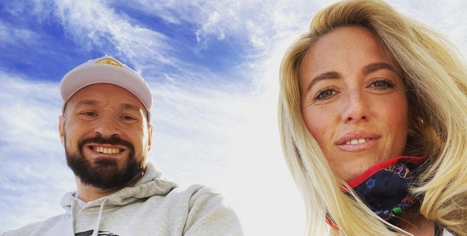 Тайсон Ф'юрі з дружиною
