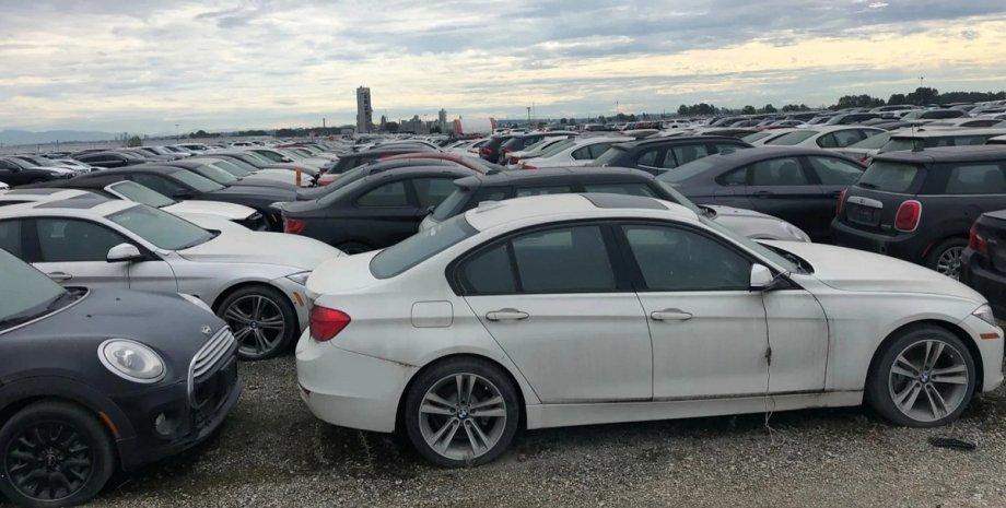 кладбище авто, новые BMW, BMW, БМВ, заброшенные авто, Mini, новые Мини, новые Mini