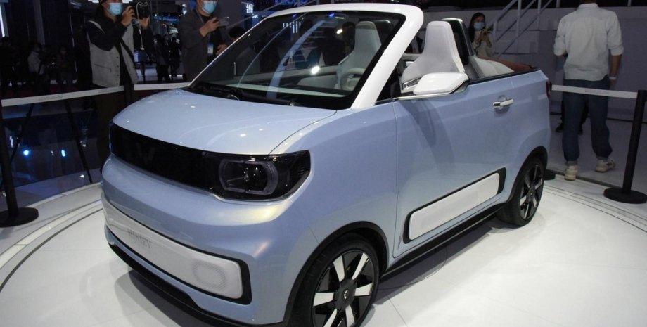 Wuling Hongguang Mini EV Cabrio, Wuling Hongguang Mini EV, Wuling Mini EV, електромобіль Wuling Mini EV