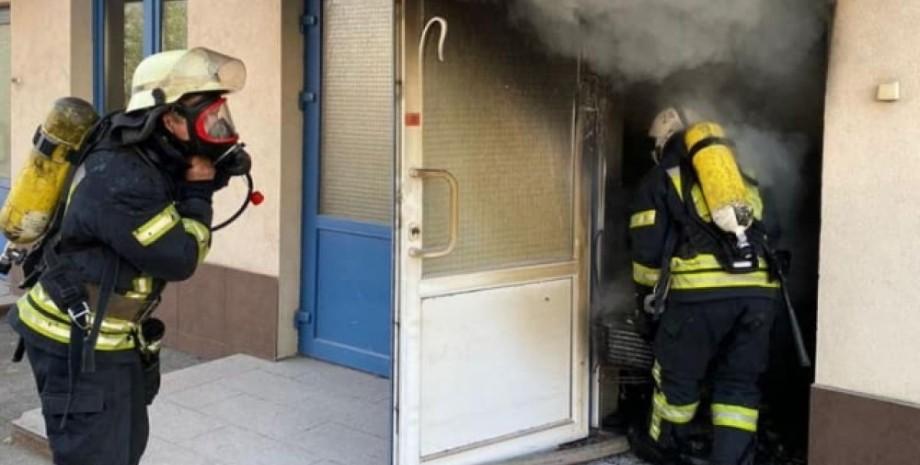 Киев, пожар, гимназия,