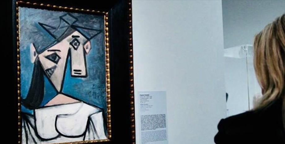 женская голова, пикассо, пит мондриан, украденные картины