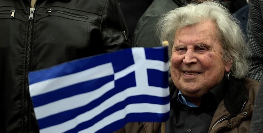 Микис Теодоракис, демонстрация