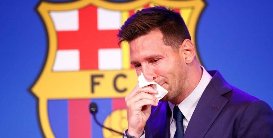 Ліонель Мессі, Ліонель Мессі Барселона, Ліонель Мессі розплакався