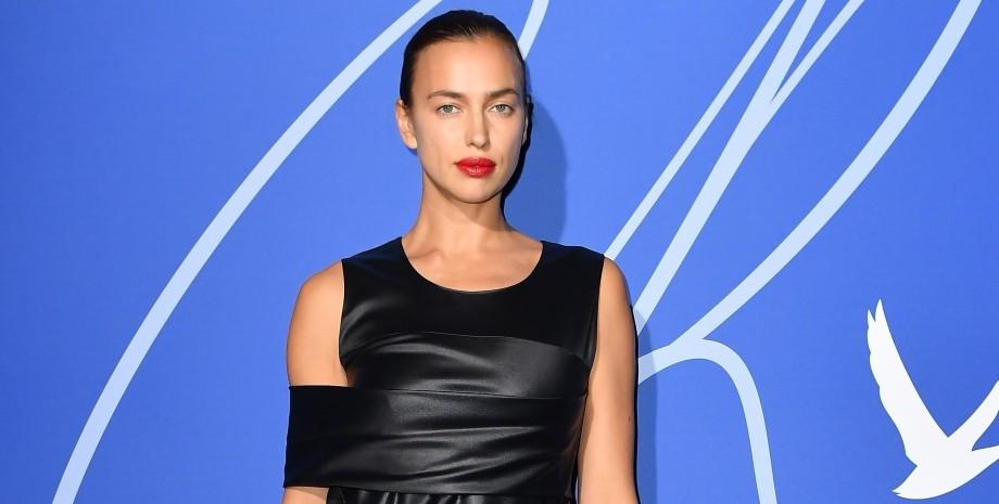 Ирина Шейк, модель, черное платье