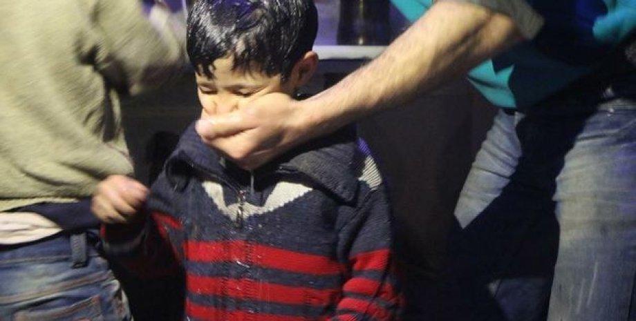 Последствия химической атаки в Думе / Фото: beyaz şapkalılar / Twitter