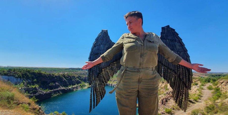 Надежда Савченко на Херсонщине/Facebook