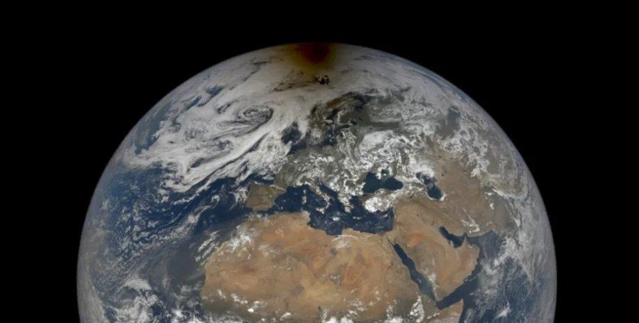 Земля, Луна, тень, солнечное затмение