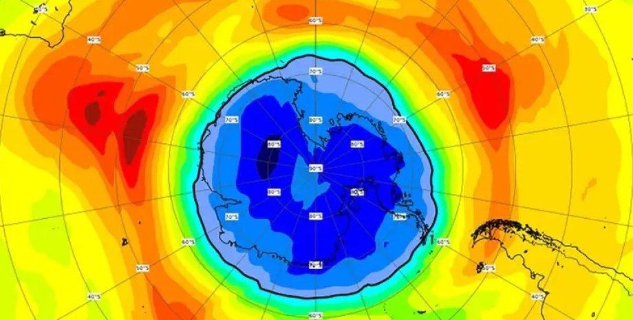 озоновая дыра, Южный полюс, Антарктида