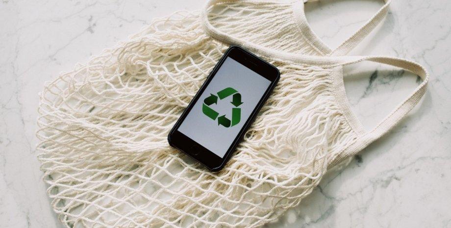 авоська, смартфон, зелені технології, лайфстайл