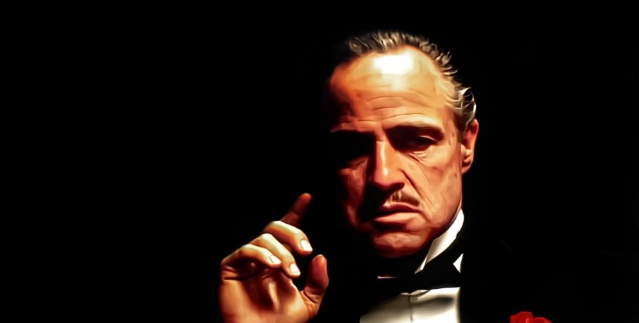 "Дон Вито Корлеоне / Фото: Кард из фильма ""Крестный отец"""