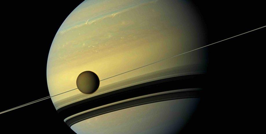 Титан, спутник, Сатурн, фото