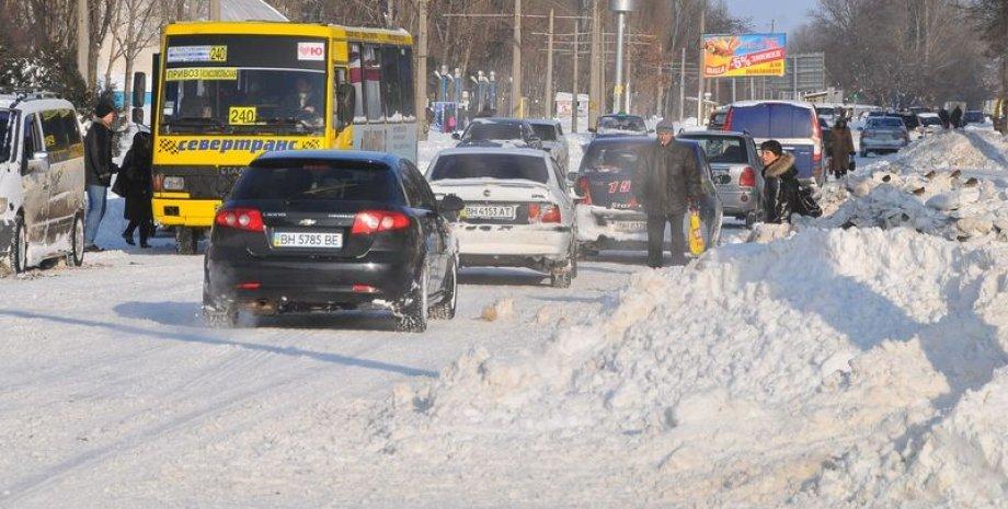 Снегопад в Одессе 29 декабря / Фото: 112.ua