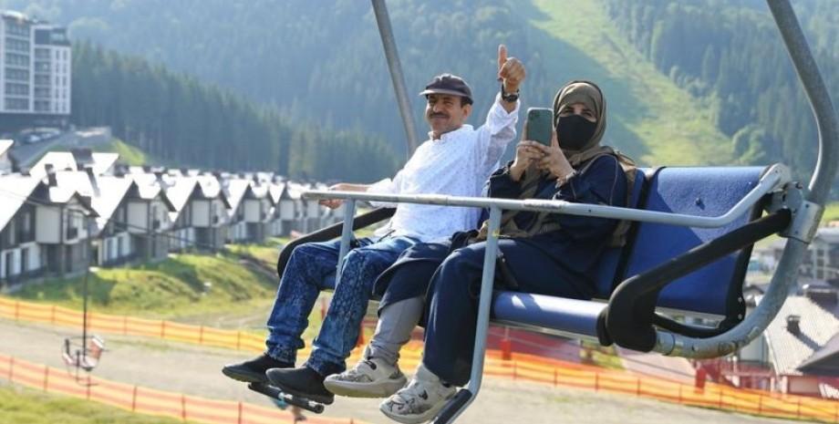 Арабские туристы, Буковель, фото