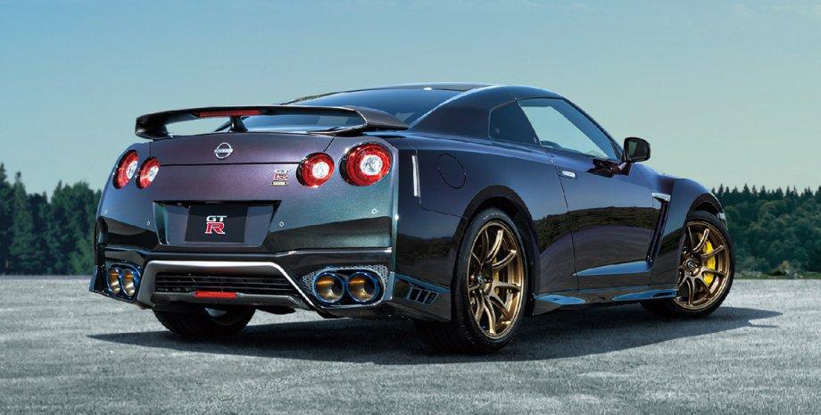 спорткар, Nissan GT-R, внешность, экстерьер, вид сзади и сбоку
