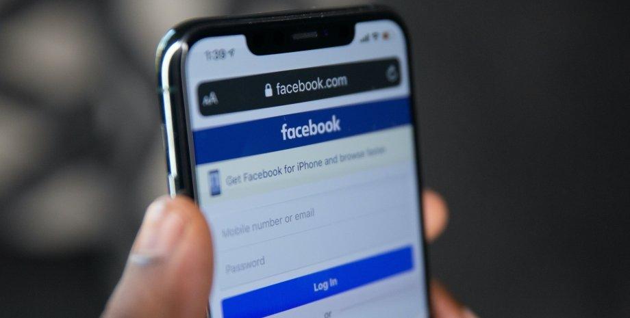 сбой, Facebook, данные, социальная сеть