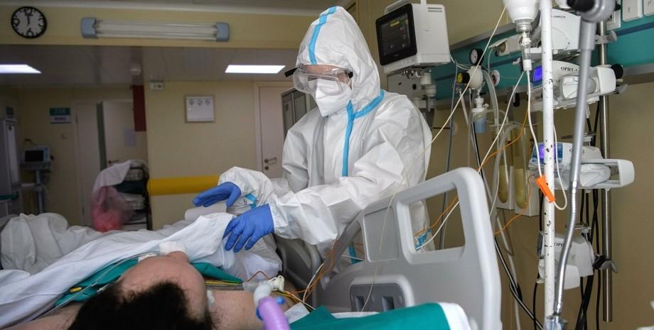 коронавирус, больница, врач, пациент