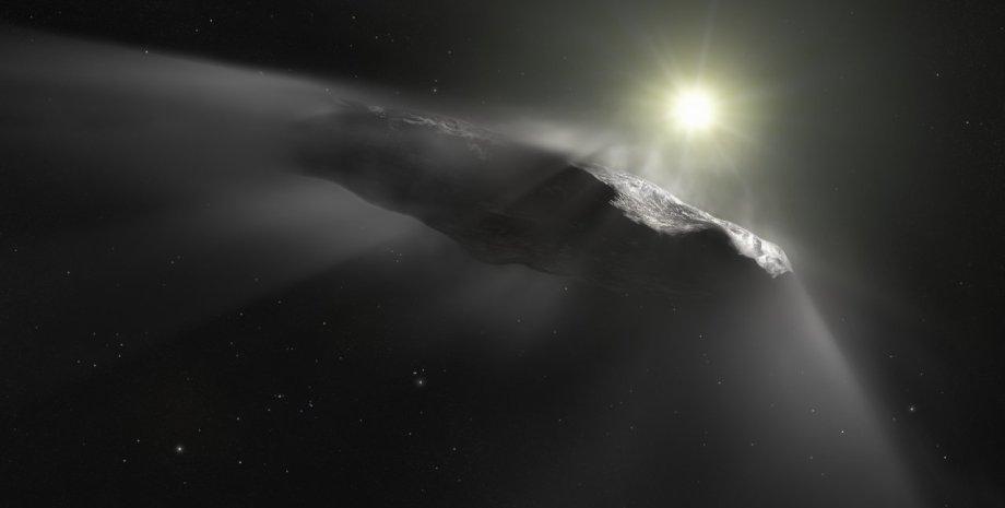 Оумуамуа, космический гость, Солнце, космос, фото