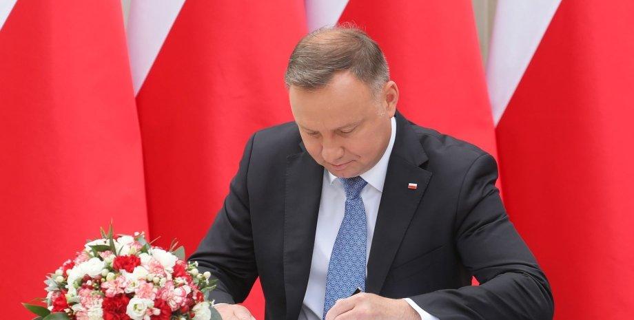 Режим НС в Польщі, надзвичайний стан в Польщі, кордон Польщі і Білорусі, Анджей Дуда