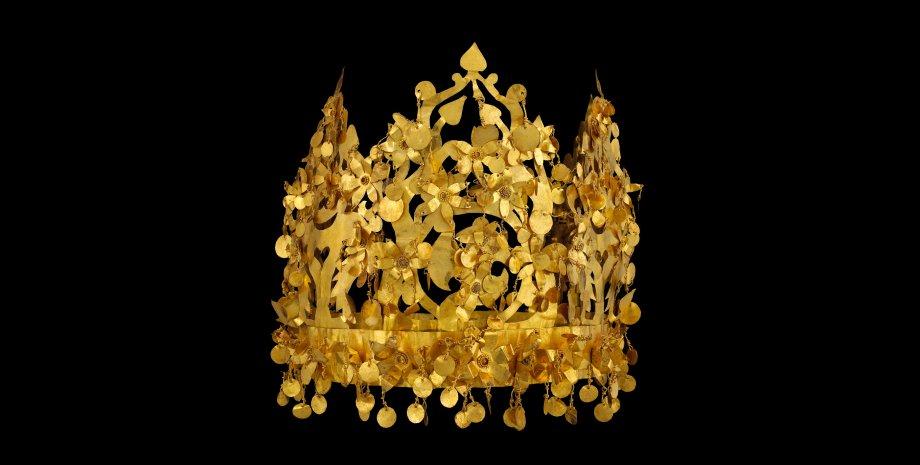 "Корона, один из артефактов ""Бактрийского золота""."