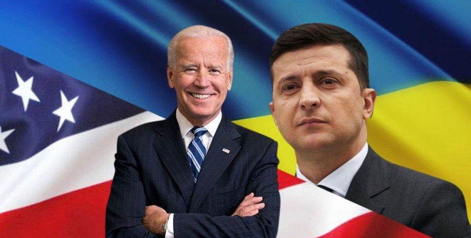 Владимир Зеленский и Джо Байден