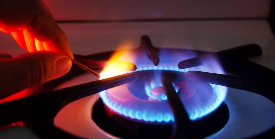 Газ в Украине, газовая плита, газ горит, голубое топливо
