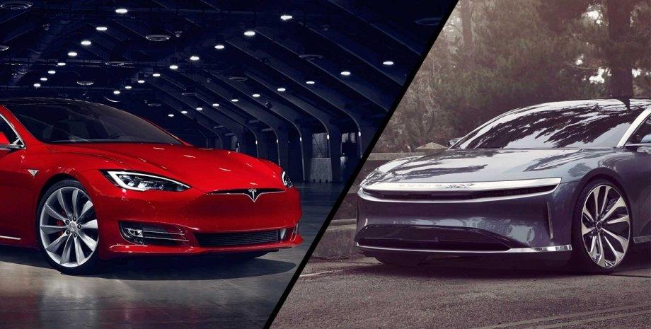 Електромобілі, Запас ходу електромобіля, Lucid Air, Tesla Model S