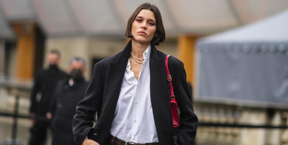 черное пальто, пальто, тренд сезона 2021, неделя моды