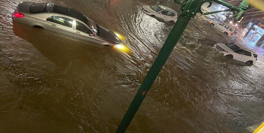 повінь в Нью-Йорку, потоп в Нью-Йорку, ураган Іда, дощ