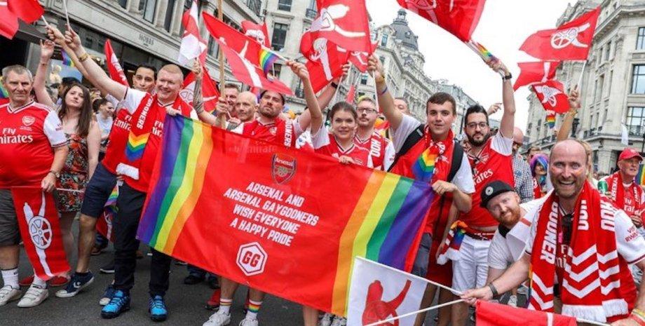 Gay Gooners, фанати, арсенал