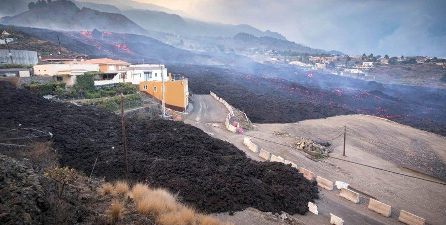 Канарские острова, извержение вулкана