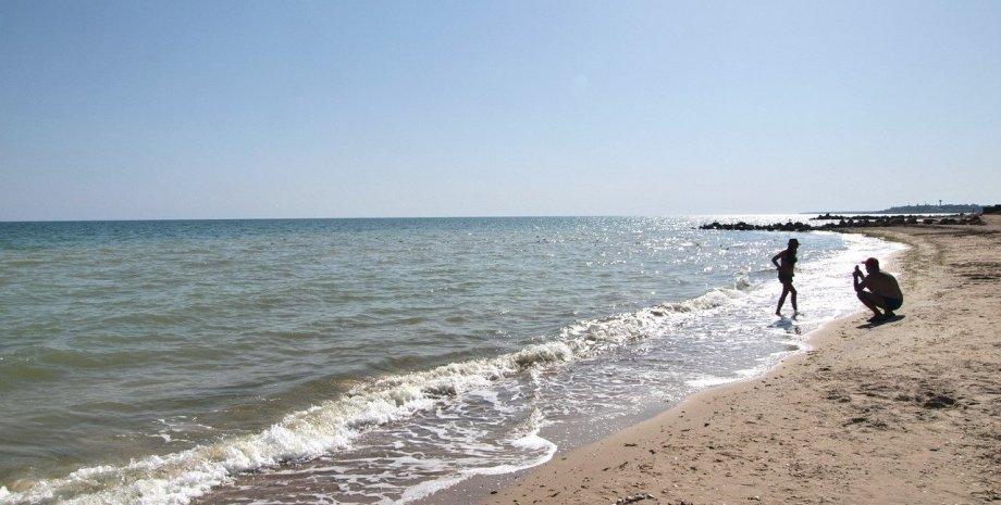 Приморський Посад, пляж