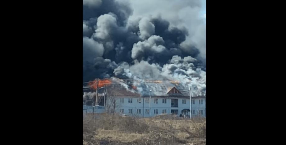Пожежа, Теребля, Закарпатті, горить новобудова, вогонь, комплекс, 120 млн