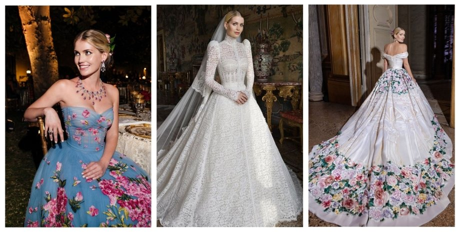 Dolce & Gabbana, Китти Спенсер, свадьба, платья