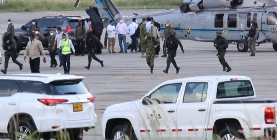 Обстріл вертольота президента Колумбії