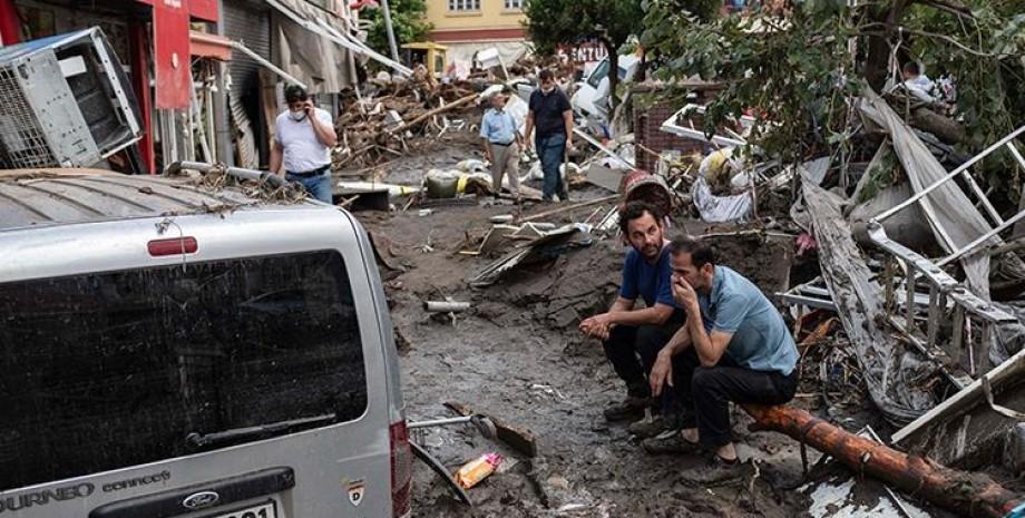 повінь, туреччина, руйнування, люди, повінь в Туреччині, Туреччина потоп 2021