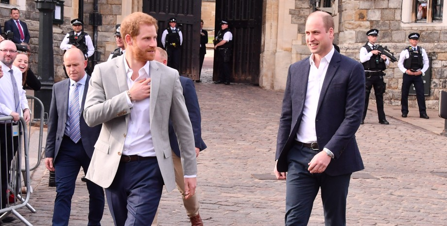 принц Гаррі, принц Вільям, брати