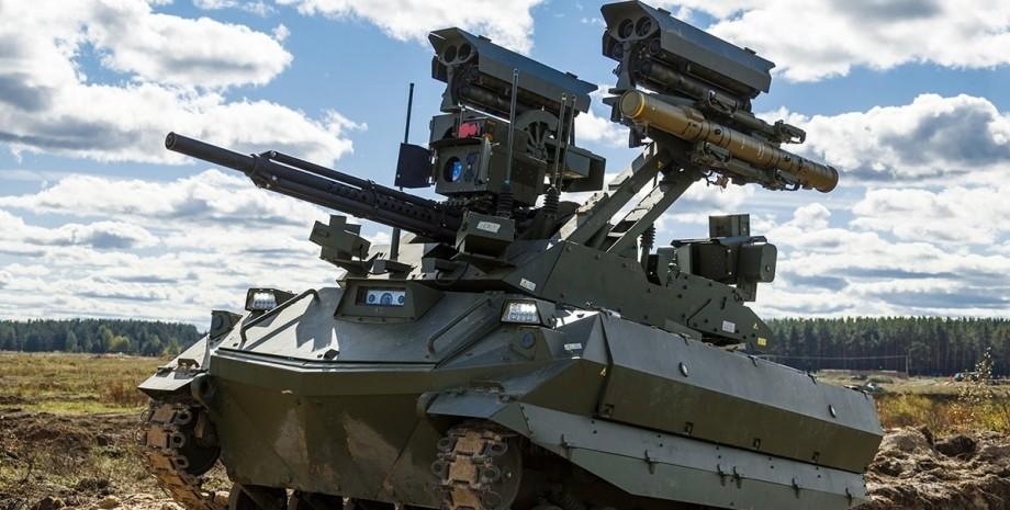 боевые роботы на учениях