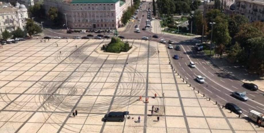 Дрифт на Софиевской площади, дрифтеры