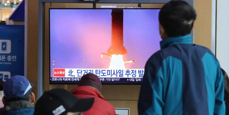 КНДР, баллистическая ракета, Японское море