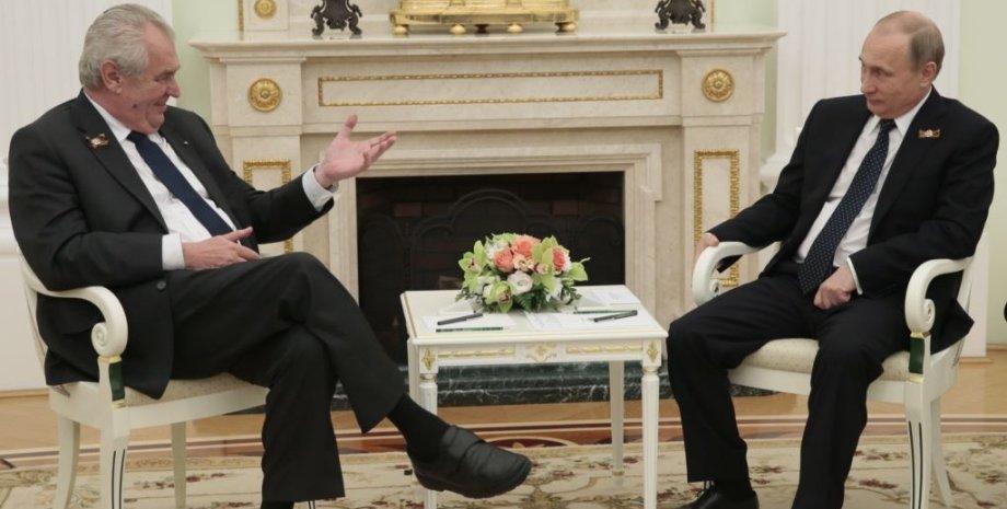 Земан и Путин / Фото: ТАСС