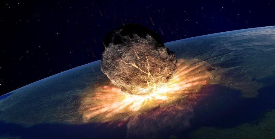 астероид Бенну, Земля, столкновение, иллюстрация
