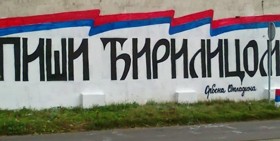 защита кириллицы в сербии
