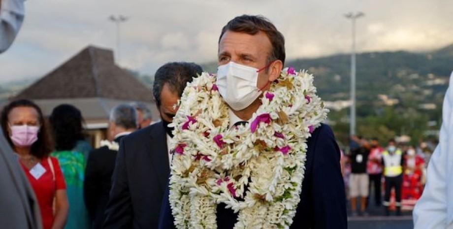 Эммануэль Макрон, Таити, французская полинезия
