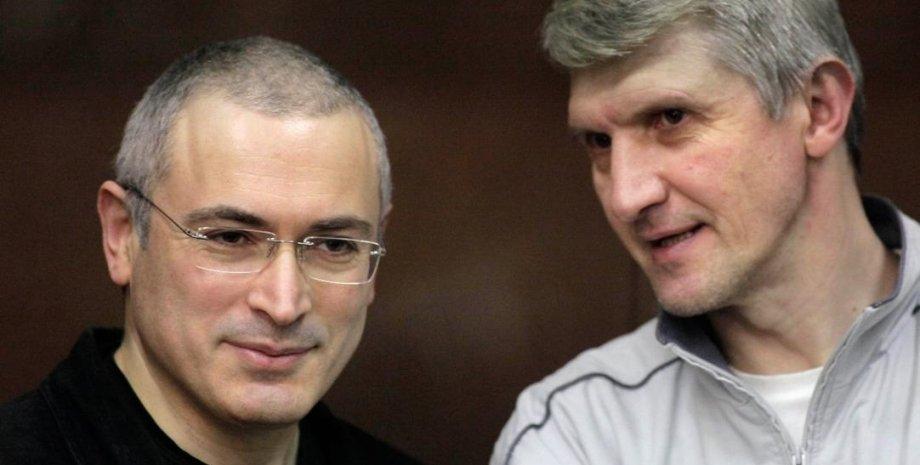 "Михаил Ходорковский (слева) и Платон Лебедев. Фото: ""Ведомости"""