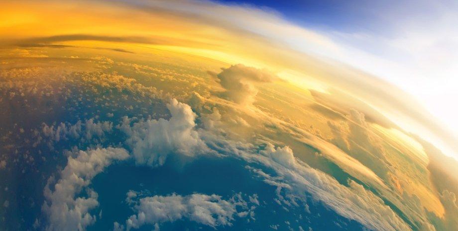 Земля, хмари, космос, фото