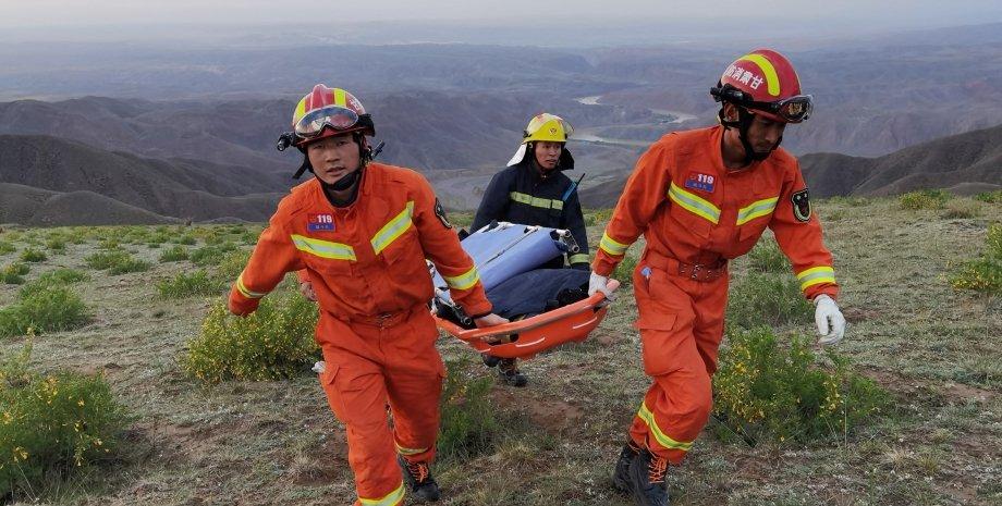 рятувальники, марафон, Китай