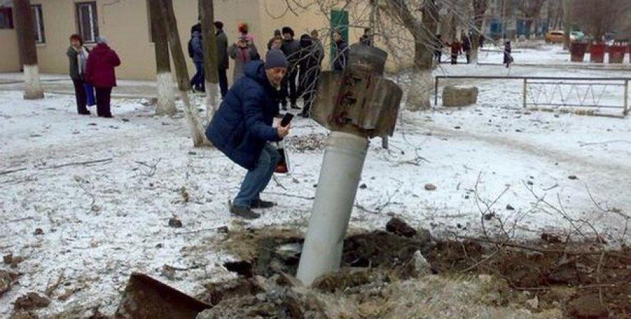 Последствия обстрела Краматорска 10 февраля / Фото: Facebook.com/bigredaktor