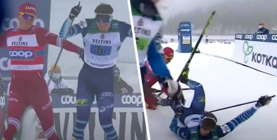 лыжные гонки,  столкновение, большунов