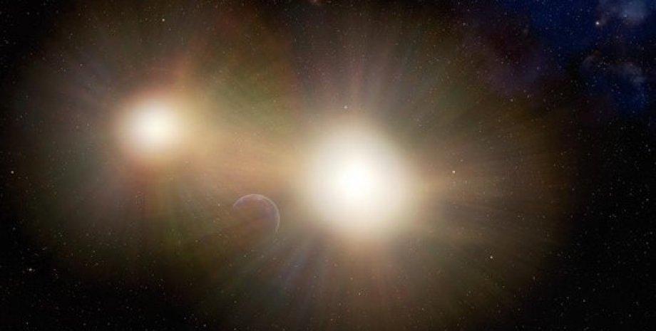 Экзопланета в двойной звездной системе